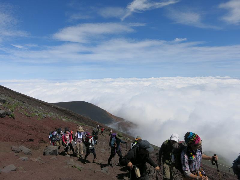 富士山登山出発