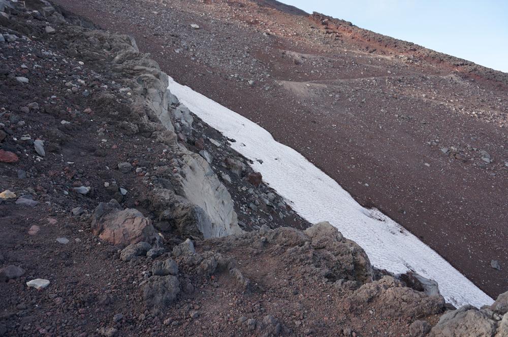 富士山万年雪