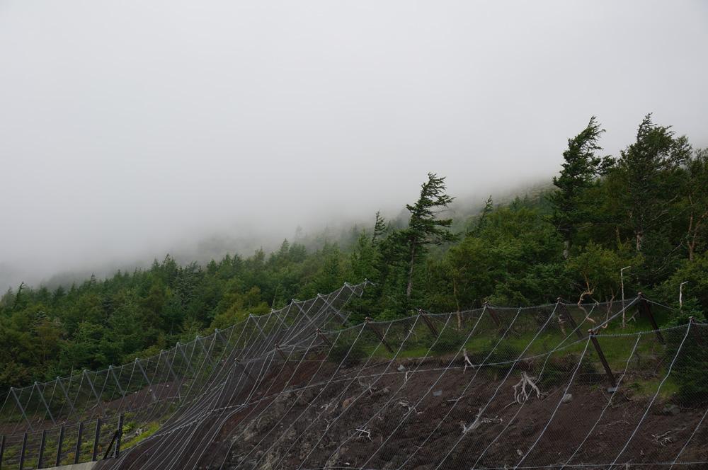 富士山の雨